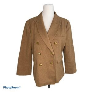 Kut from the Kloth Wool Camel Colored Blazer